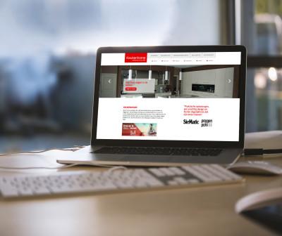responsive website keukenhome desktop