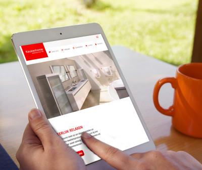 responsive website keukenhome tablet